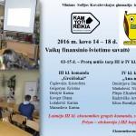Vaikų finansinio švietimo savaitė 2016 Viktorina