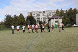 Šeštadienį gimnazijos stadione įvyko futbolo turnyras