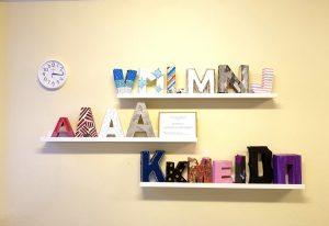 """""""Mūsų inicialai"""" II gimnazijos klasių Gaminių dizaino ir technologijų dalyko  kūrybinių darbų paroda"""