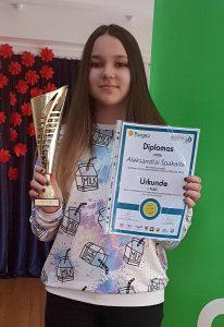 """Aleksandra Špakaitė – matematikos konkurso """"Pangea"""" laureatė"""