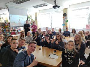 (LT) Gimnazistų susitikimas su tarptautinių studijų koordinatoriais